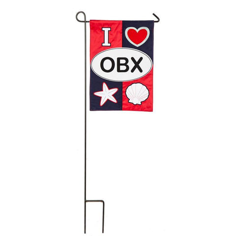 I Love OBX Appliqué Garden Flag