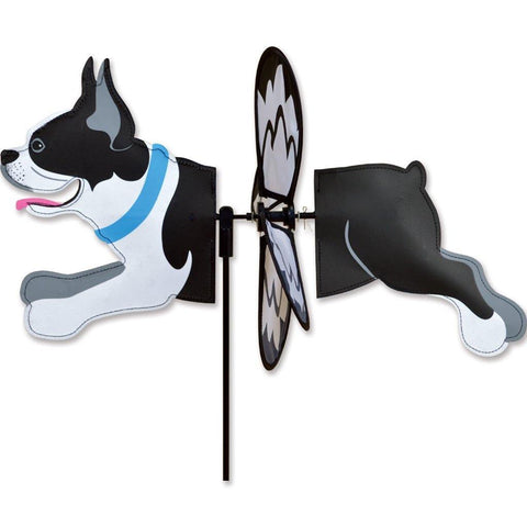 Boston Terrier Dog Petite Wind Spinner