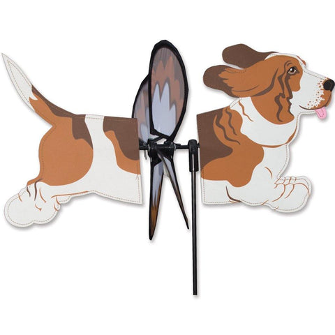 Basset Hound Dog Petite Wind Spinner