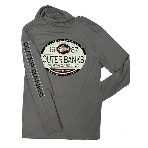 Outer Banks Fish Bones Hooded Long Sleeve Shirt