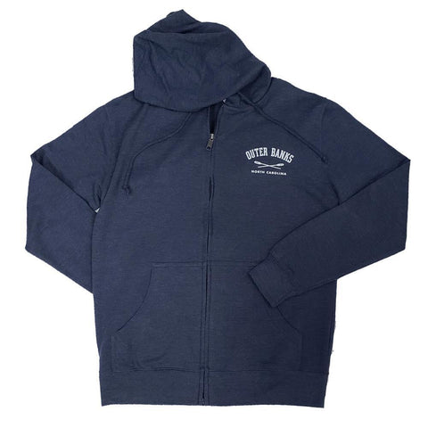 Outer Banks Crossed Oars Full Zip Hooded Sweatshirt