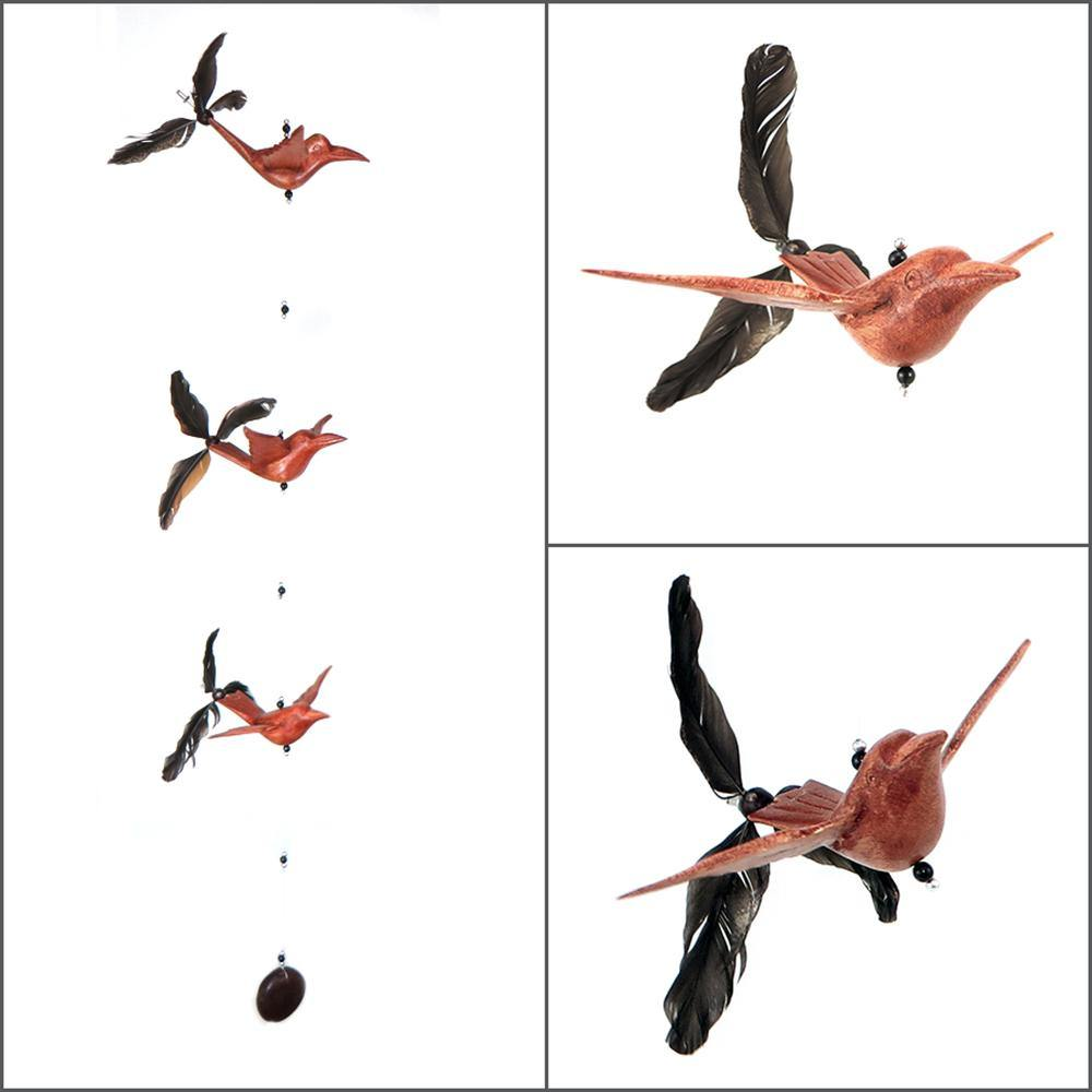 Wood Hummingbird Whirly Mobile - Kitty Hawk Kites Online Store
