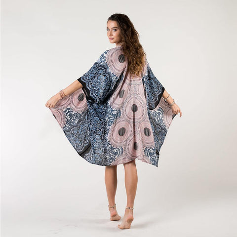 Pink/Grey Mandala Kimono Cover Up - Kitty Hawk Kites Online Store