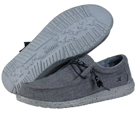Mens Wally L Stretch Shoes - Steel