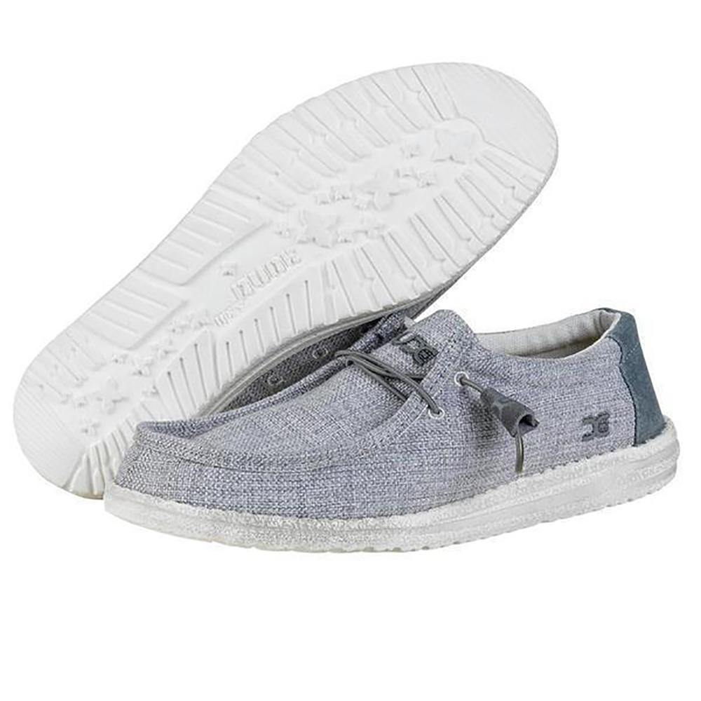 Mens Wally Woven Shoes - Grey White