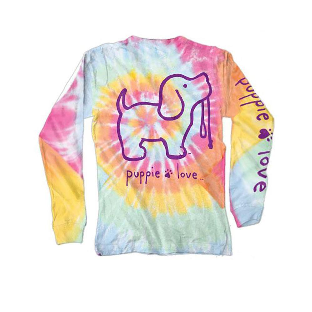 Tie Dye #2 Pup Long Sleeve T-Shirt