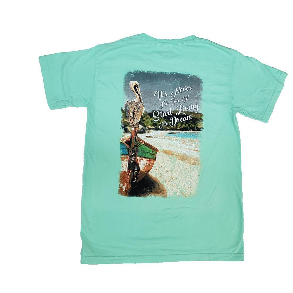 Living The Dream Pelican Short Sleeve T-Shirt