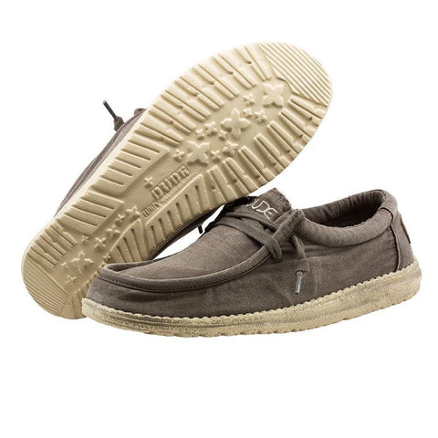 Mens Wally Washed Shoes - Mud