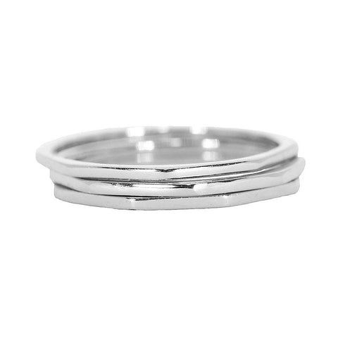 Pura Vida Delicate Stacked Sterling Silver Rings