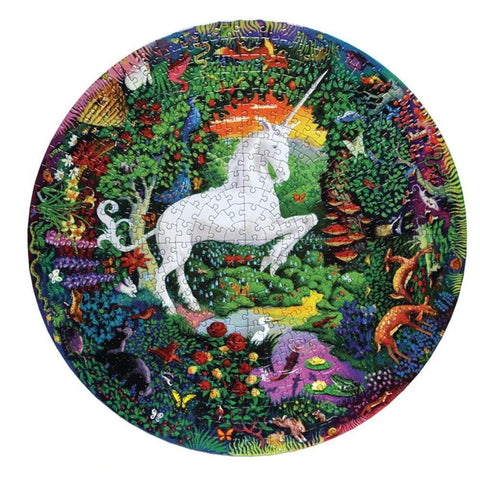 Unicorn Garden 500 Piece Round Puzzle - Kitty Hawk Kites Online Store