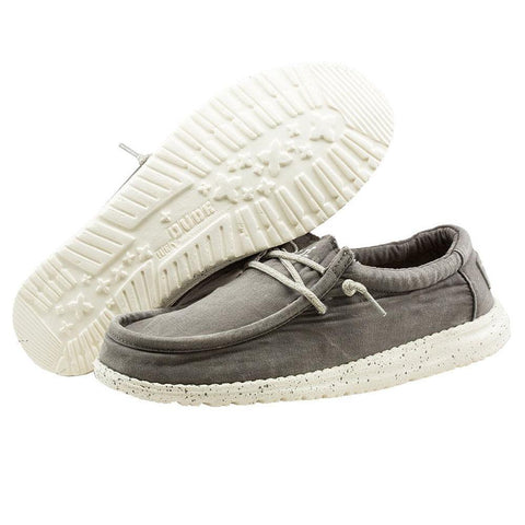 Mens Wally Washed Shoes - Dark Grey