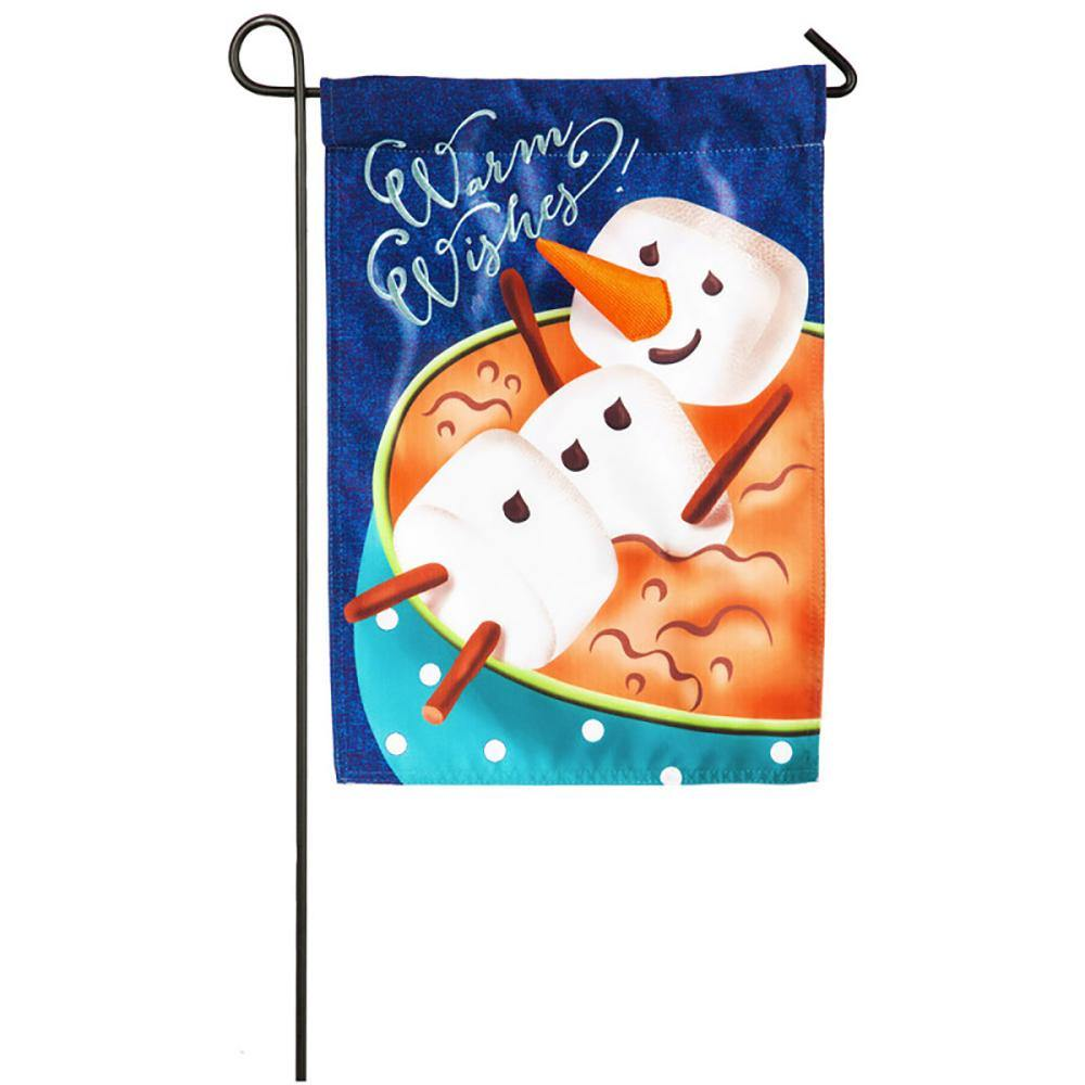 Warm Wishes Linen Garden Flag