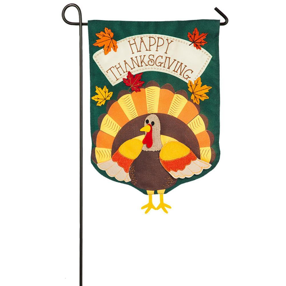 Turkey Time Burlap Garden Flag