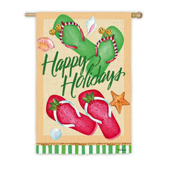 Flip Flop Holidays Suede House Flag