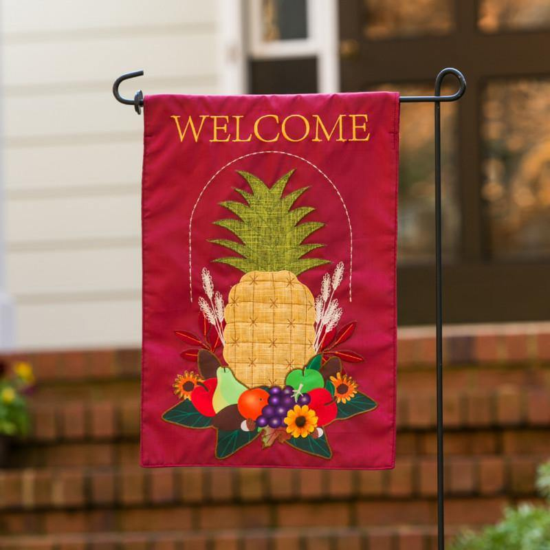 Harvest Pineapple Burlap Garden Flag