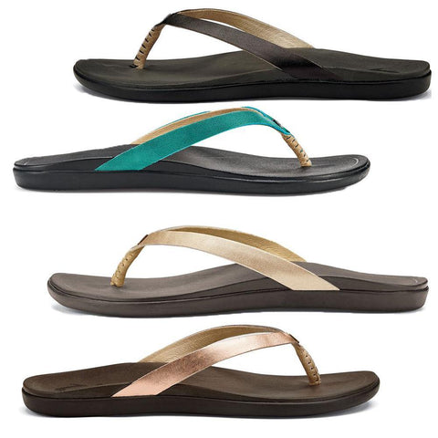 Ho'ōpio Women's Leather Beach Sandals
