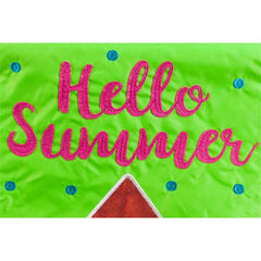 Hello Summer Watermelon Applique Garden Flag - Kitty Hawk Kites Online Store