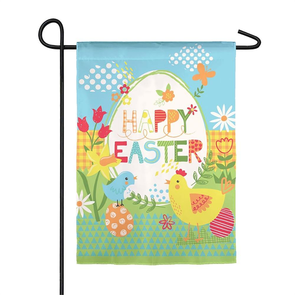Happy Easter Suede Garden Flag