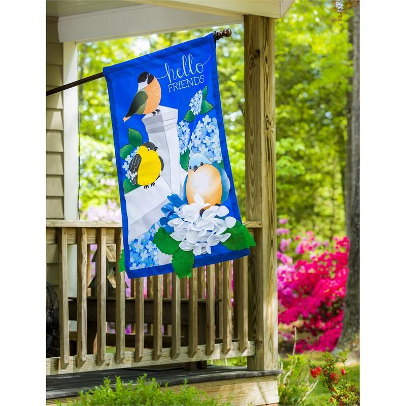 Groovy Hydrangea Garden Burlap House Flag Download Free Architecture Designs Intelgarnamadebymaigaardcom