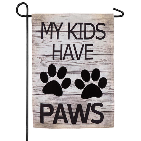 My Kids Have Paws Burlap Garden Flag - Kitty Hawk Kites Online Store