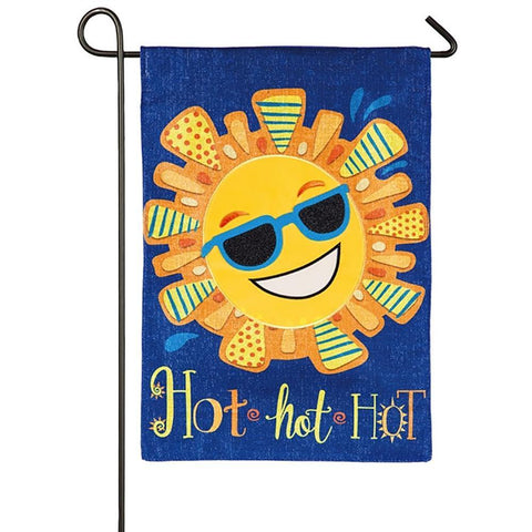 Hot Hot Hot Sun Linen Garden Flag - Kitty Hawk Kites Online Store