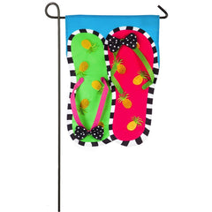 Pineapple Flip Flops Appliqué Garden Flag - Kitty Hawk Kites Online Store