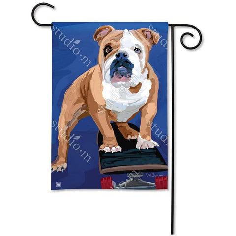 Bulldog with Skateboard Garden Flag - Kitty Hawk Kites Online Store