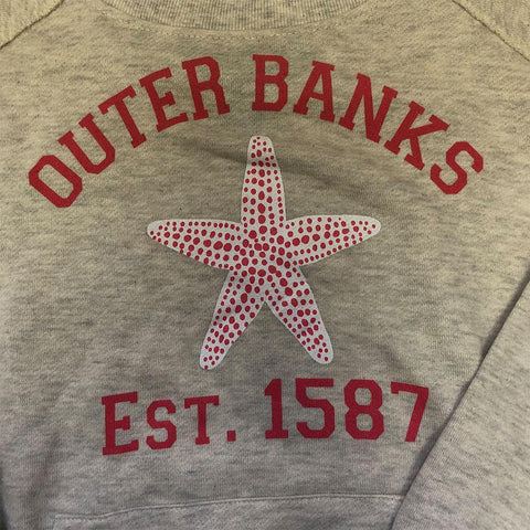 OB Off Shoulder Starfish Sweatshirt