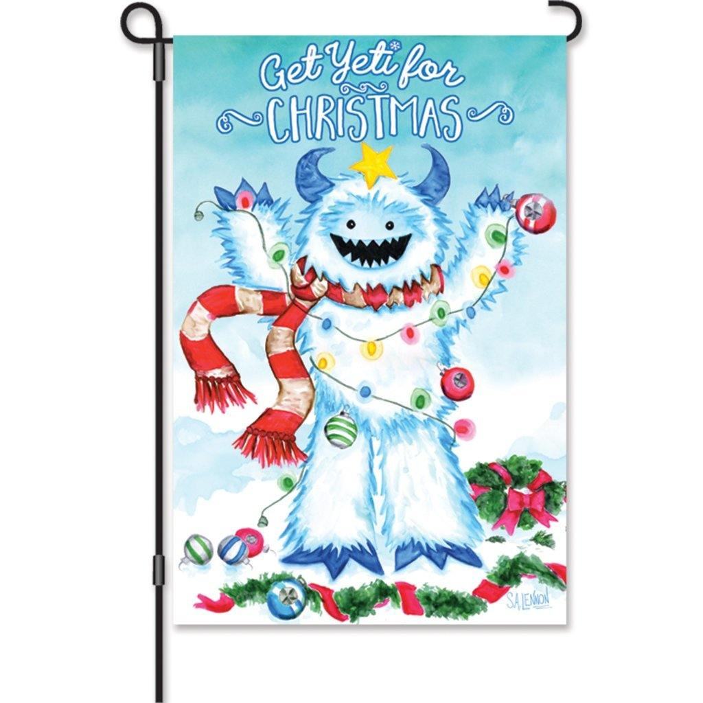 Get Yeti For Christmas Garden Flag