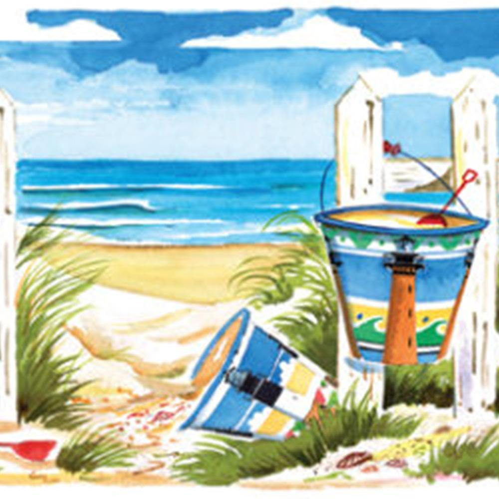 Carolina Beach Buckets 500 Piece Puzzle