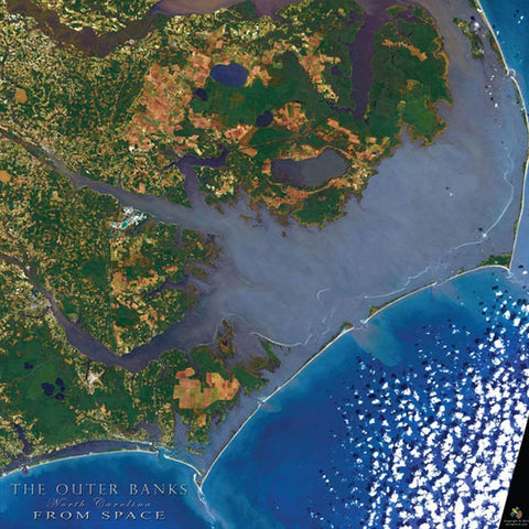 Outer Banks From Space 550 Piece Puzzle