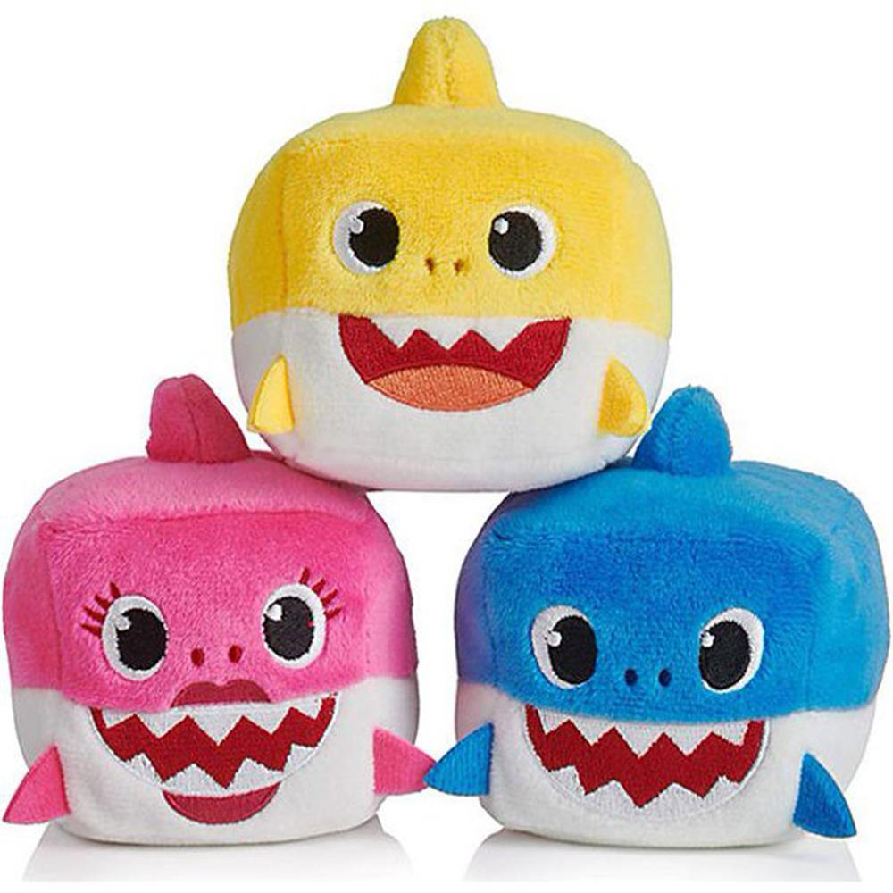 Baby Shark Family Sound Plush Cubes