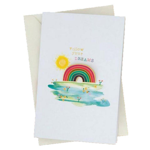 Dreams Rainbow Pin Card