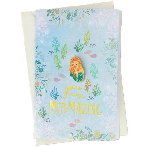 Mazing Mermaid Pin Card
