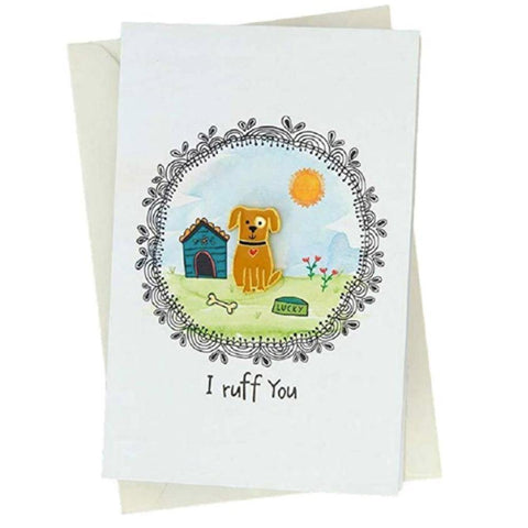 I Ruff You Dog Pin Card