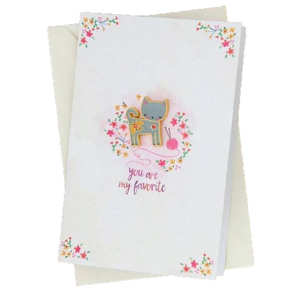 Favorite Cat Pin Card