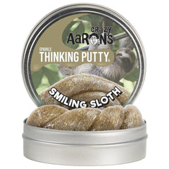 Crazy Aaron's Smiling Sloth Sparkle Thinking Putty - Kitty Hawk Kites Online Store