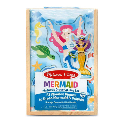 Mermaid & Dolphin Magnetic Dress-Up Wooden Dolls Pretend Play Set by Melissa & Doug