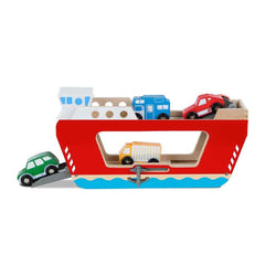 Wooden Ferryboat with 4 Wooden Vehicles by Melissa & Doug