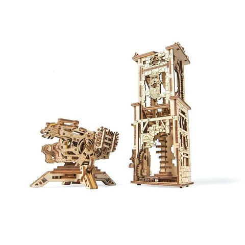Ugears Archballista Tower Mechanical Model - Kitty Hawk Kites Online Store