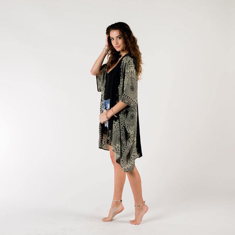 Black/Cream Bondi Mandala Cover Up - Kitty Hawk Kites Online Store