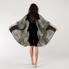 Black/Cream Bondi Mandala Cover Up