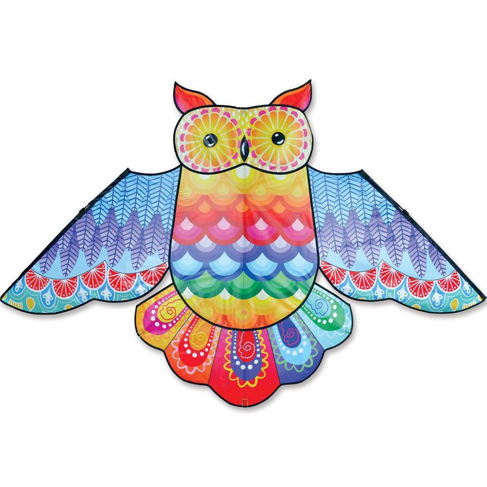 70 Inch Rainbow Owl Kite