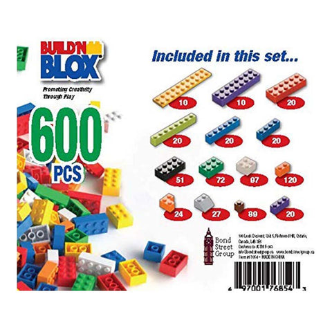 Build 'N Blox Building Bricks (600 piece)