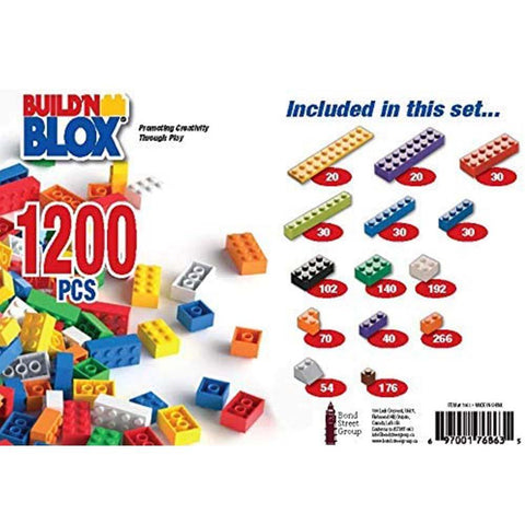 Build 'N Blox Building Bricks (1200 piece)