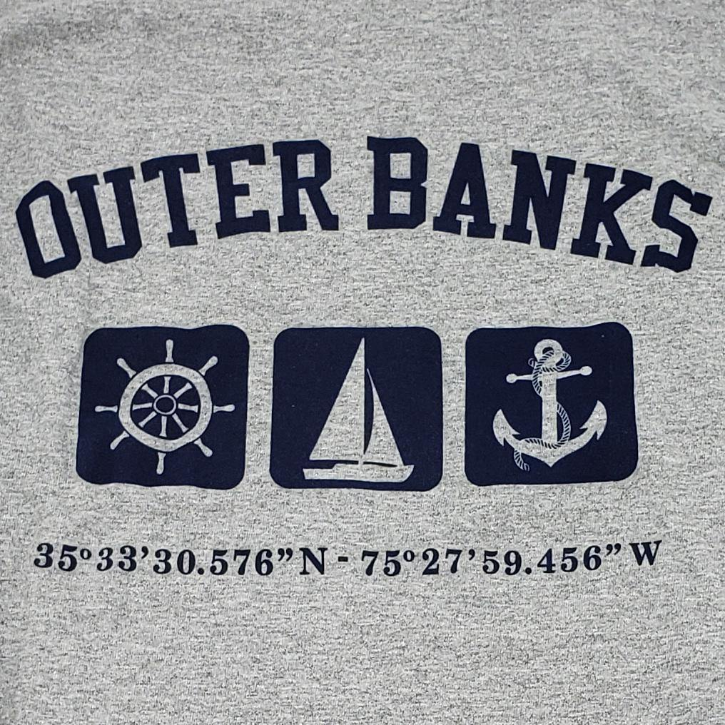 Outer Banks Long Sleeve Triple Print Nautical Tee