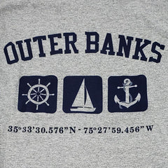 Outer Banks Long Sleeve Triple Print Nautical Tee - Kitty Hawk Kites Online Store