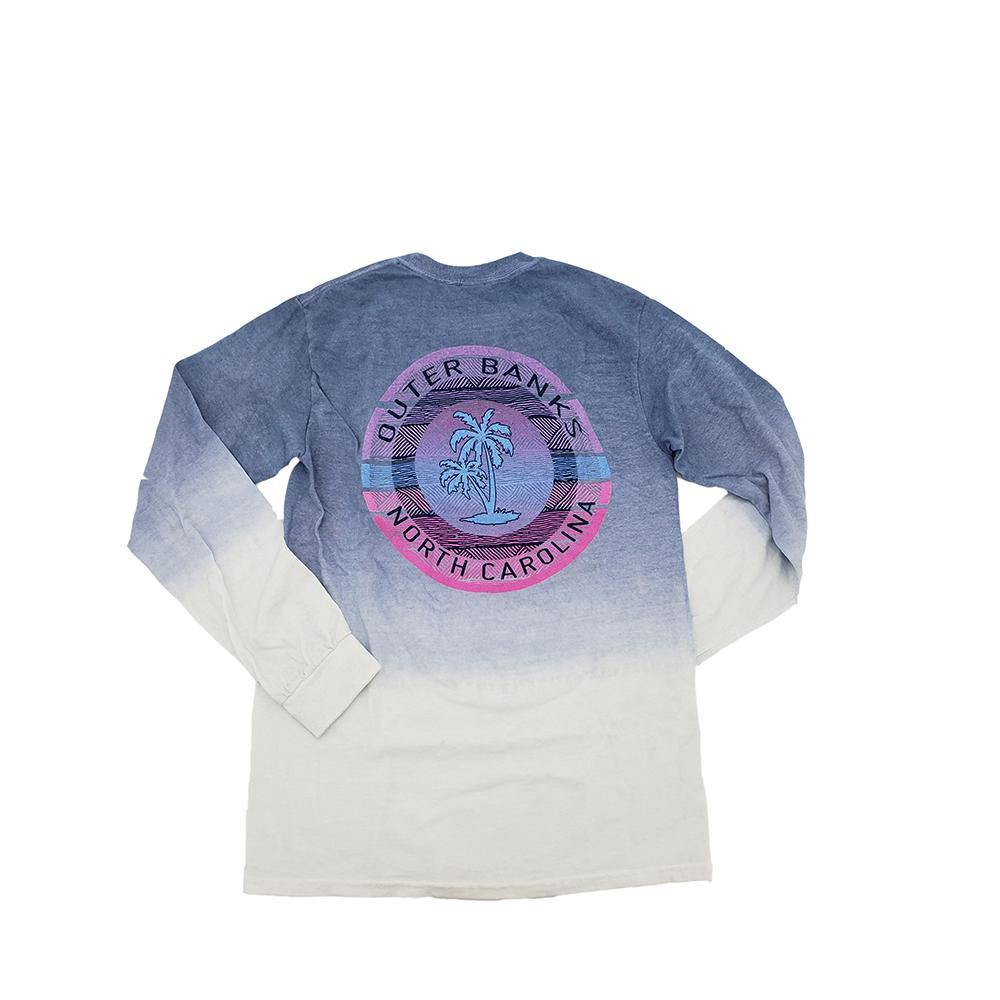 Outer Banks Nearnik Palm Ombre Long Sleeve Tee