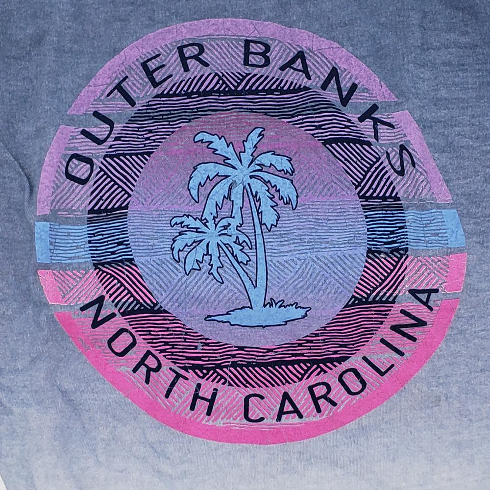 Outer Banks Nearnik Palm Ombre Long Sleeve Tee - Kitty Hawk Kites Online Store