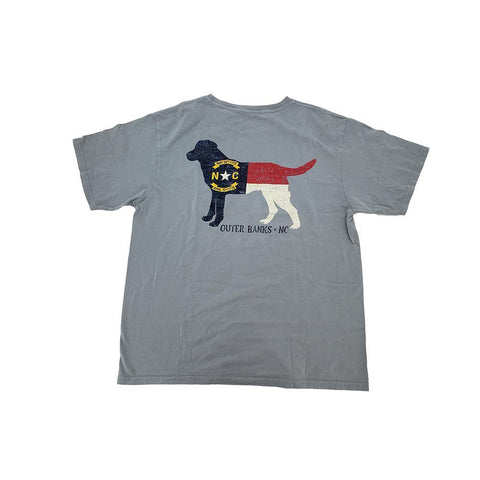 Outer Banks Kennel Club NC State Flag Lab Tee